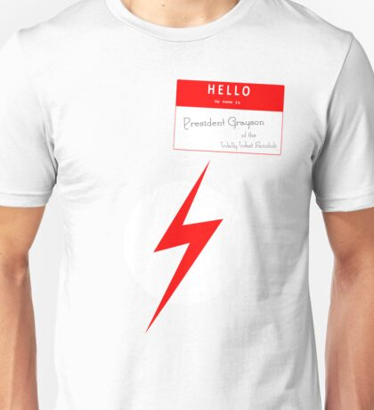 President Grayson of the Wally West Fanclub Unisex T-Shirt
