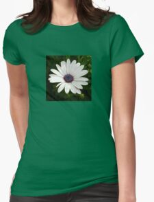 Beautiful Osteospermum White Daisy With Purple Center  Womens Fitted T-Shirt