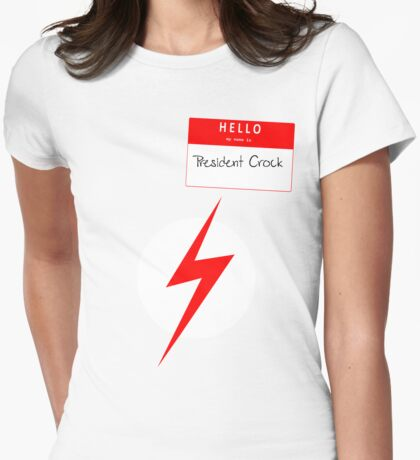 President Crock Womens Fitted T-Shirt