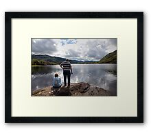 Middle Lake view Framed Print