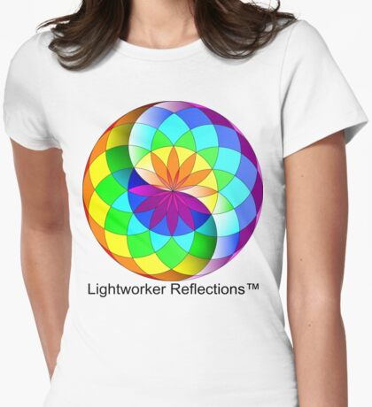 LWR -Logo White Womens Fitted T-Shirt