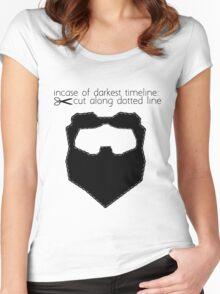 Incase of darkest timeline: Women's Fitted Scoop T-Shirt