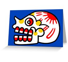 Aztec Skull 2 Greeting Card