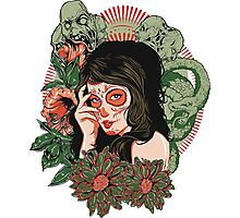 Day of the Dead Girl Photographic Print