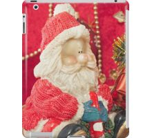 Santa Claus with Christmas  tree and  gift iPad Case/Skin