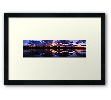 Mirrored Magic Framed Print