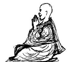 Gratitude Monk During Jizo Meditation... by motherhenna