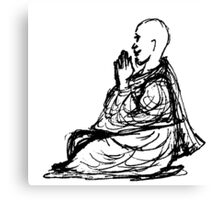 Gratitude Monk During Jizo Meditation... Canvas Print