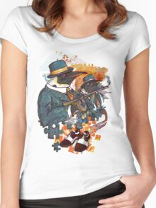 Mobster Puzzle Women's Fitted Scoop T-Shirt