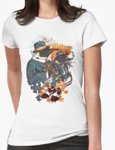 Mobster Puzzle Womens Fitted T-Shirt