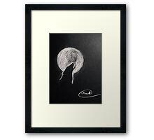 Howling moon Framed Print