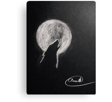 Howling moon Canvas Print