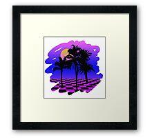 Eighties Technicolor Dreams Framed Print