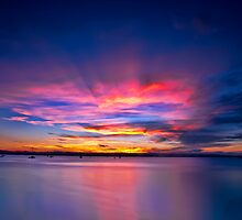 sunset at Scarborough by tonyporter