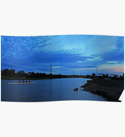 Morning on the water Poster