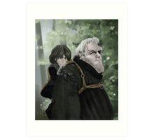 Bran and Hodor Art Print