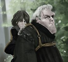 Bran and Hodor by JenSnow