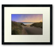 """Windswept Maron grass"" Framed Print"