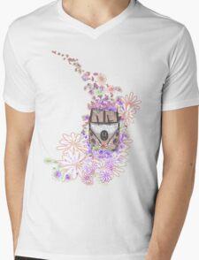 Flower Power Mens V-Neck T-Shirt
