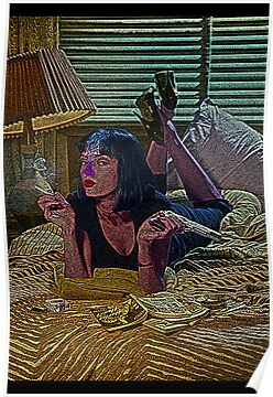 Pulp Fiction Mia Wallace Culture Cloth Zinc Collection by CultureCloth