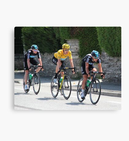 Sky Train - Tour de France 2012 Canvas Print