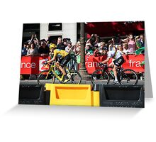 Tour de France 2012 - Wiggo & Cav in Paris Greeting Card