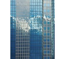 clouds love to dance on glass Photographic Print
