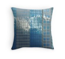 clouds love to dance on glass Throw Pillow