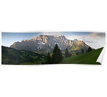 Alpine dusk Poster
