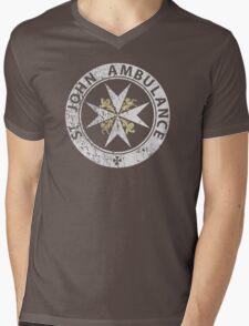 St. John Ambulance, distressed Mens V-Neck T-Shirt