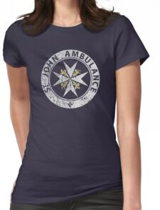 St. John Ambulance, distressed Womens Fitted T-Shirt