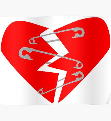 Safety Pin Heart Poster