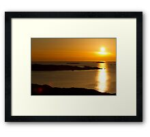 Golden Swedish Sunset Framed Print
