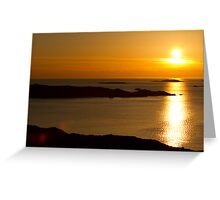 Golden Swedish Sunset Greeting Card