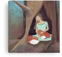 A Girl and her foxes Canvas Print
