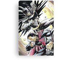Superman v Batman Canvas Print