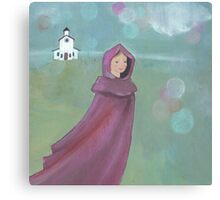 Coming from church Canvas Print