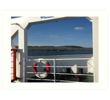 From the Foyle Ferry, Ireland Art Print