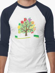 Eat More Fruit Men's Baseball ¾ T-Shirt