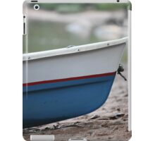 rowing boat on the beach close to iPad Case/Skin