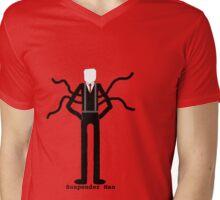 Suspender Man Mens V-Neck T-Shirt