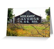 Route 66 - Meramec Caverns Barn Greeting Card