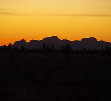 Sunset over The Olgas by Nigel Byrne