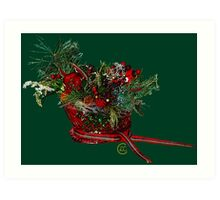 """Holiday Crystal Sleighs""© Art Print"