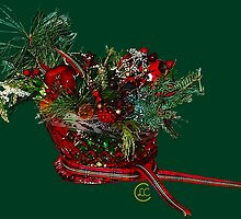"""Holiday Crystal Sleighs""© by Lisa Clark for Thinker Collection - STEM Art"