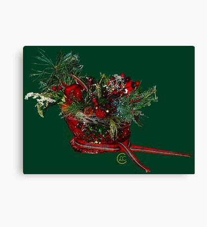 """Holiday Crystal Sleighs""© Canvas Print"