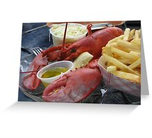 Lobster Man Greeting Card