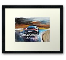 Michelangelo quote Sportcar oil paints nature Framed Print
