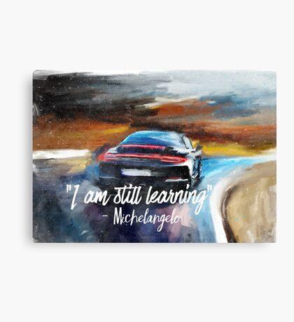 Michelangelo quote Sportcar oil paints nature Canvas Print
