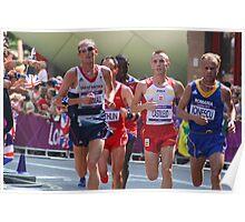 Scott Overall Team GB - London Olympic Marathon - 2012 Poster